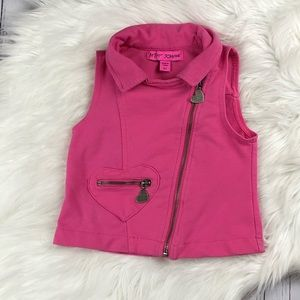 BETSEY JOHNSON | Hot Pink Moto Vest Toddler